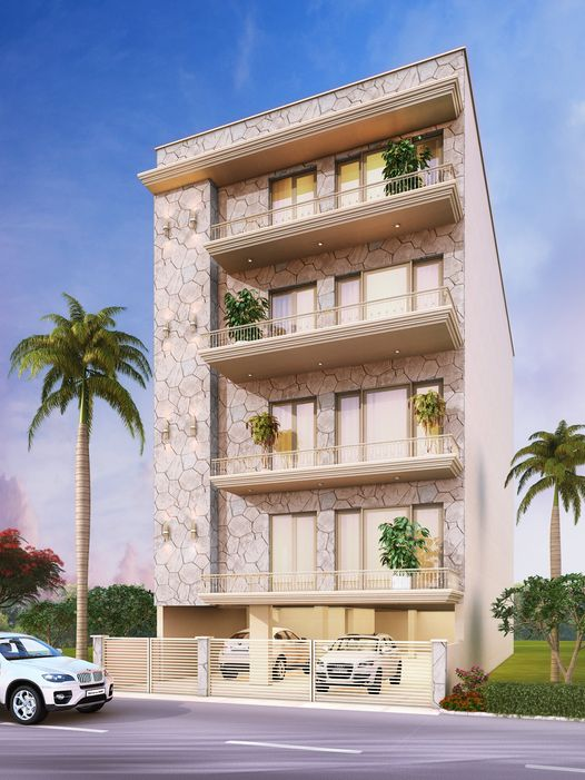 A very tall looking and beautiful building in safdarjung enclave built by Florence Homes