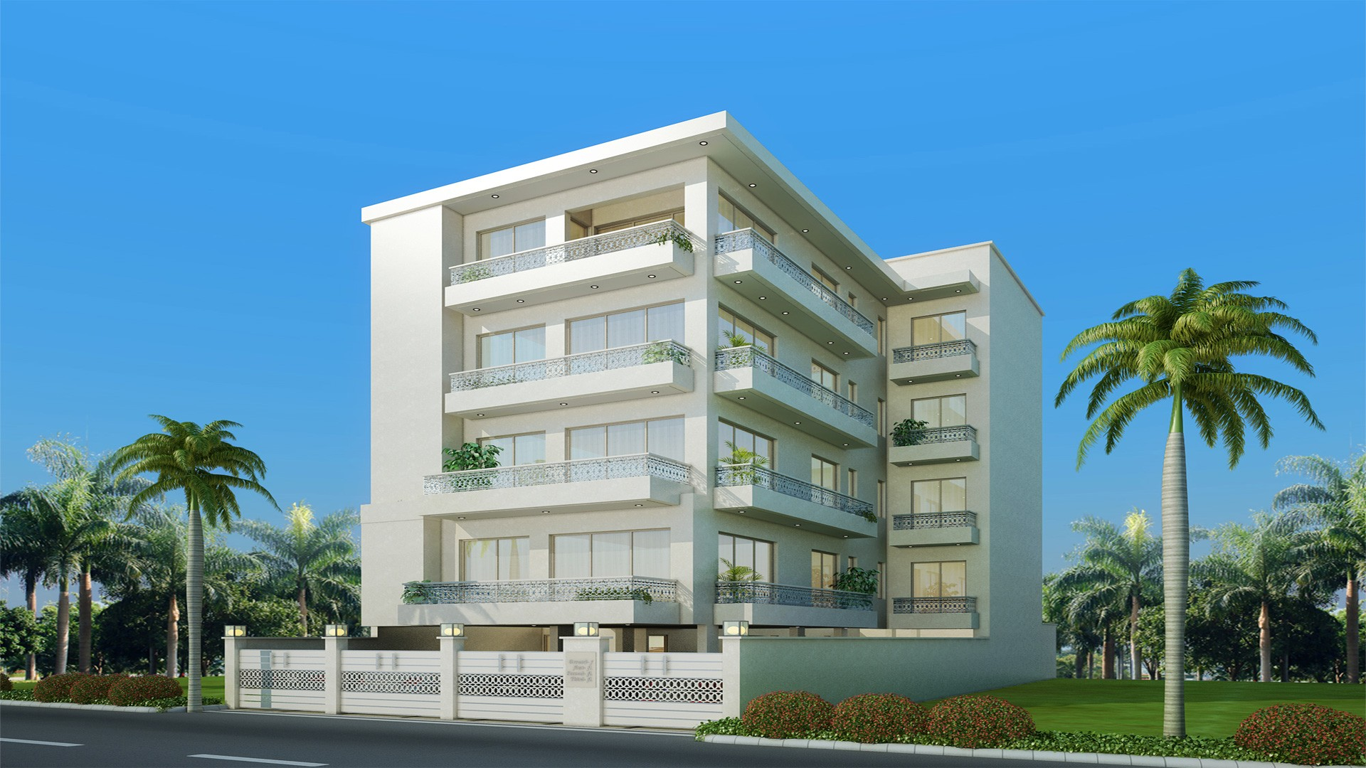 Beautifuly designed building by florence homes in safdarjung enclave