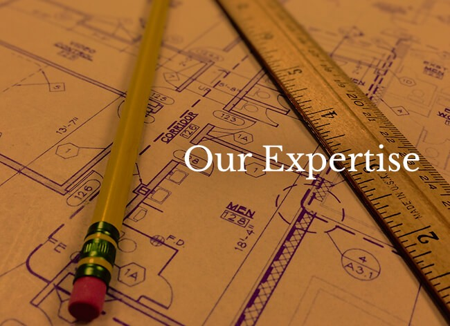 An Image that Our Expertise written on it with Drawings background