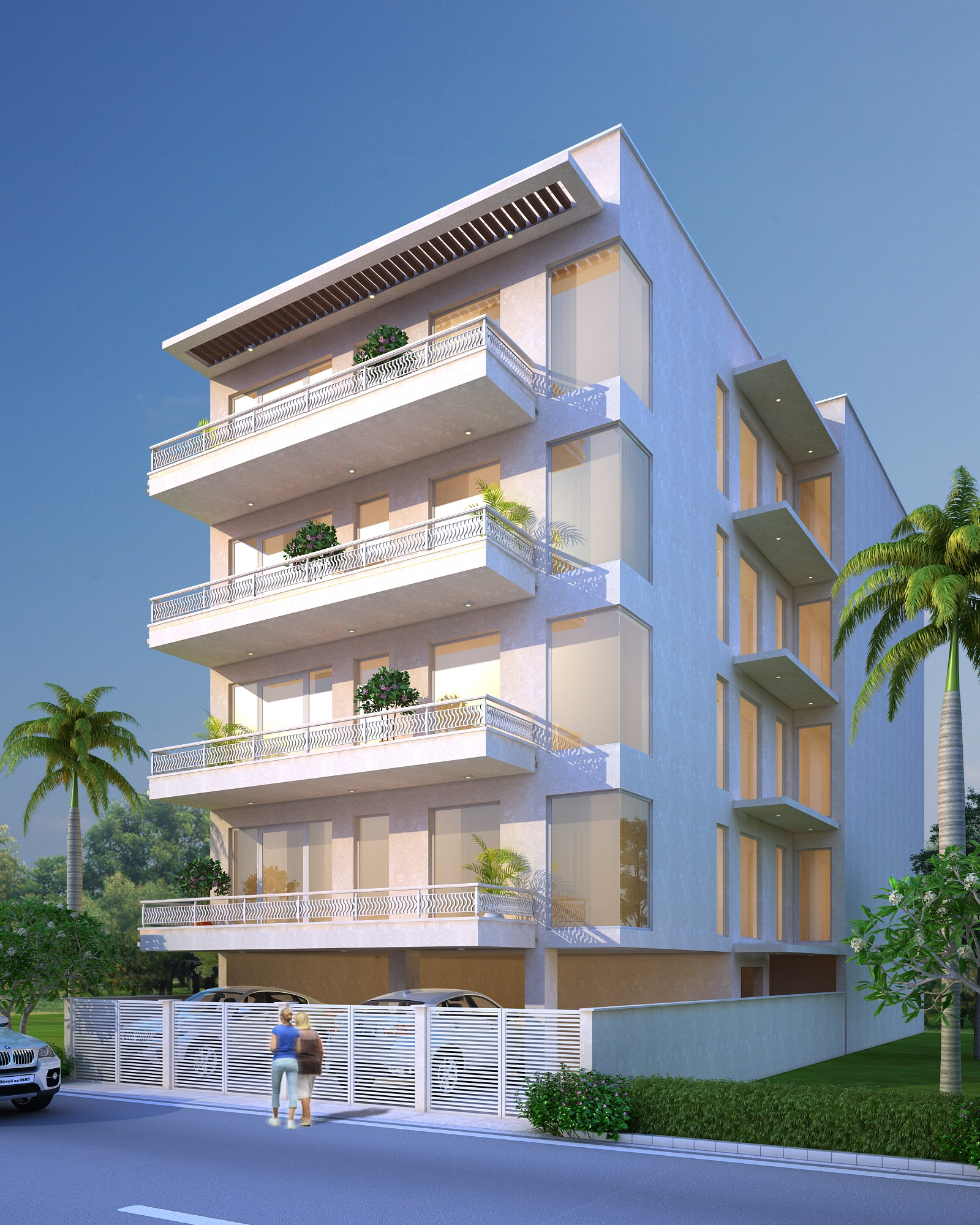 Beautifuly designed building by florence homes in Kailash colony